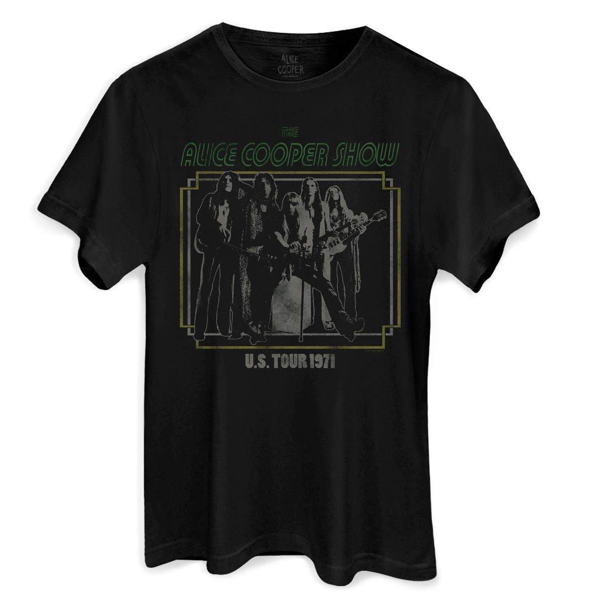 Camiseta Masculina Alice Cooper US Tour 1971