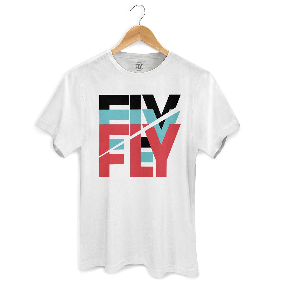 Camiseta Masculina Banda Fly Logo Colors