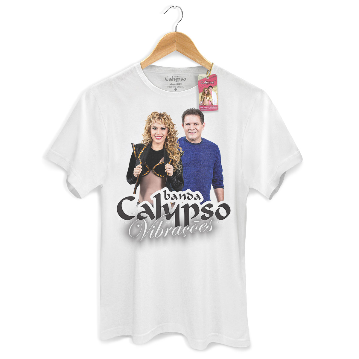 Camiseta Masculina Calypso Vibrações Capa