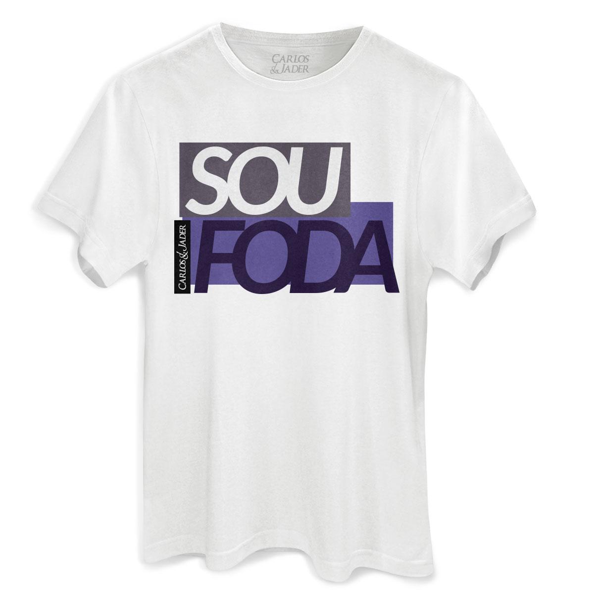 Camiseta Masculina Carlos & Jader Sou Foda