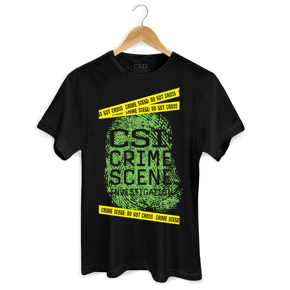 Camiseta Masculina CSI Crime Scene