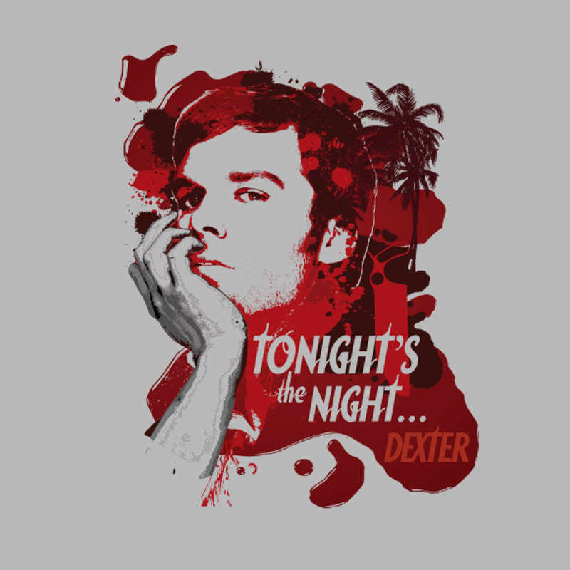 Camiseta Masculina Dexter Tonight´s The Night