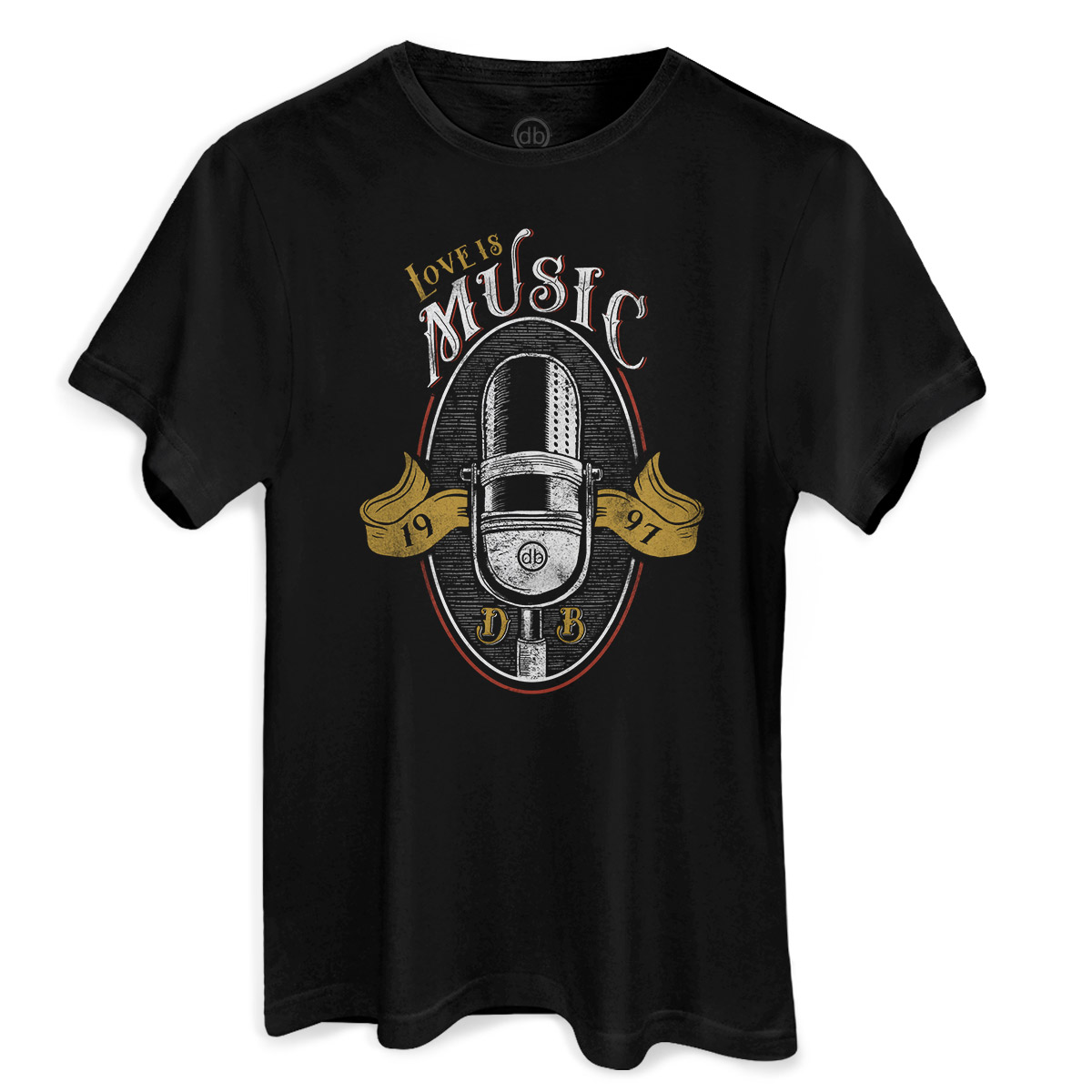 Camiseta Masculina Dudu Borges Love is Music
