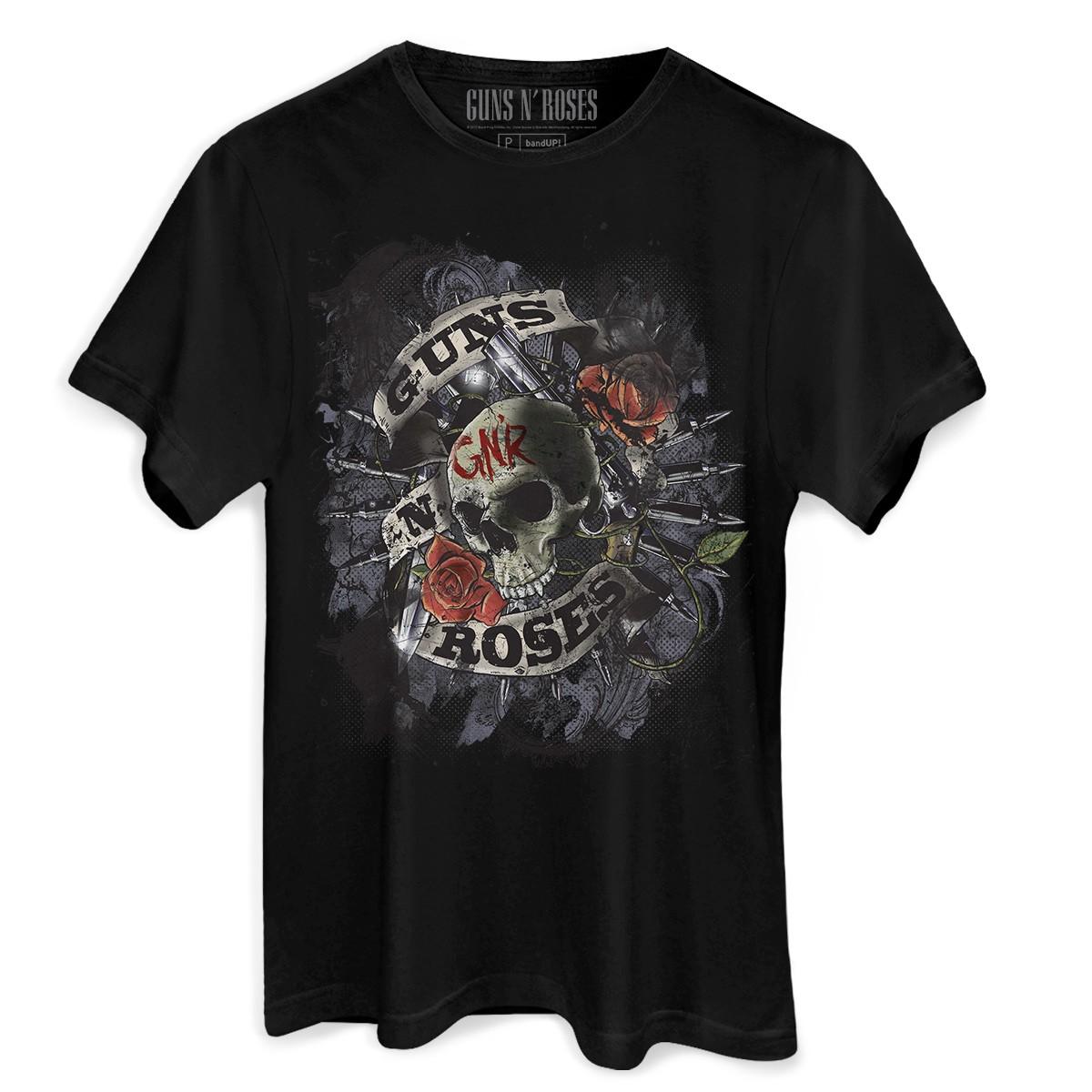 Camiseta Masculina Guns N´ Roses Firepower