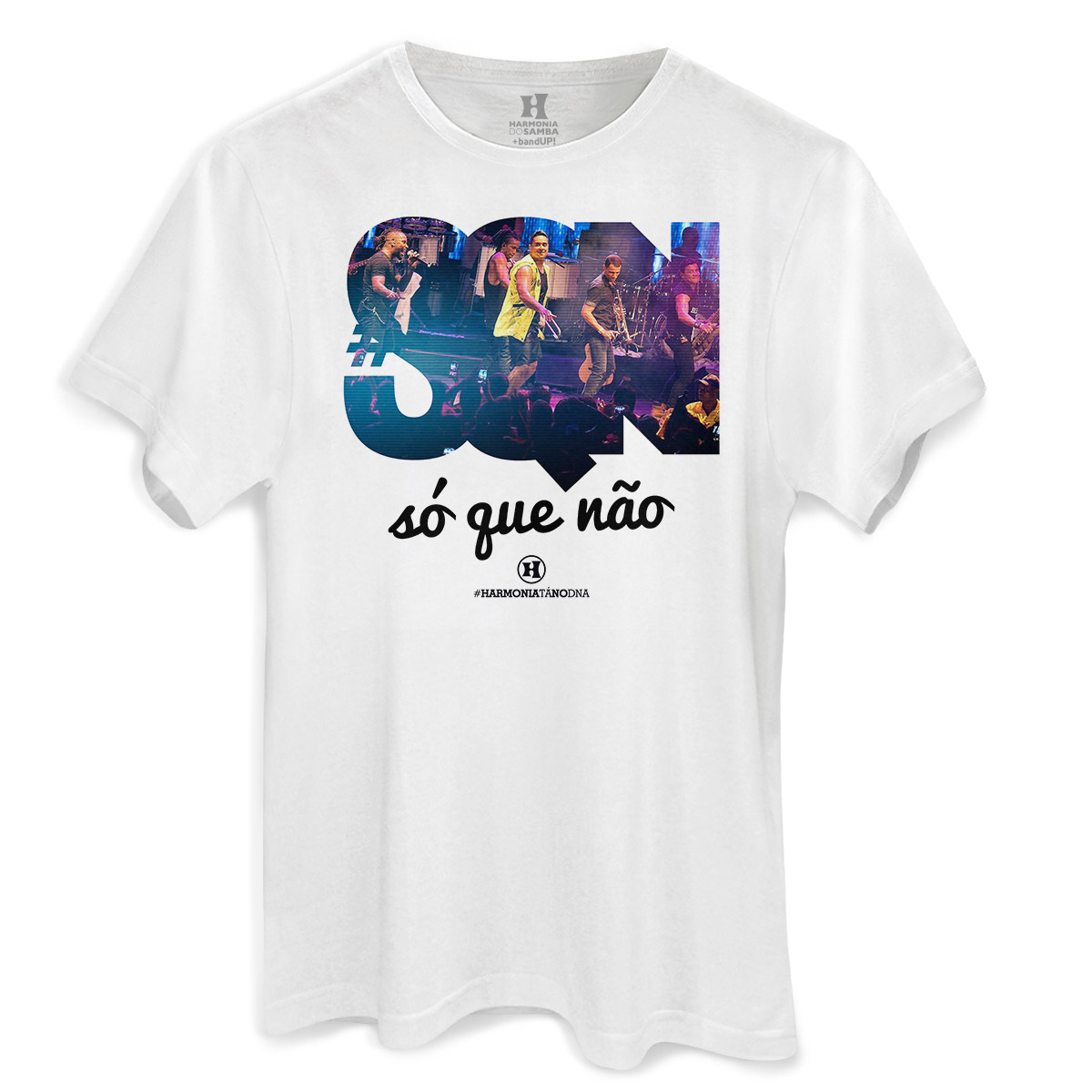 Camiseta Masculina Harmonia do Samba Só que Não