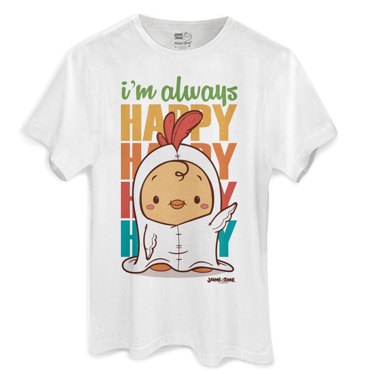 Camiseta Masculina Jaime I´m Always Happy