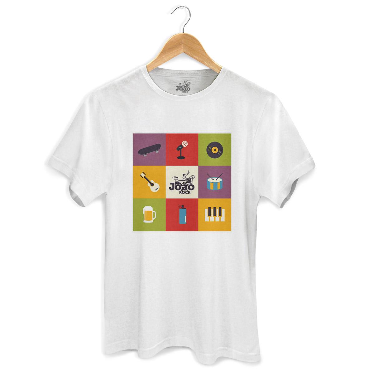 Camiseta Masculina João Rock Instrumentos