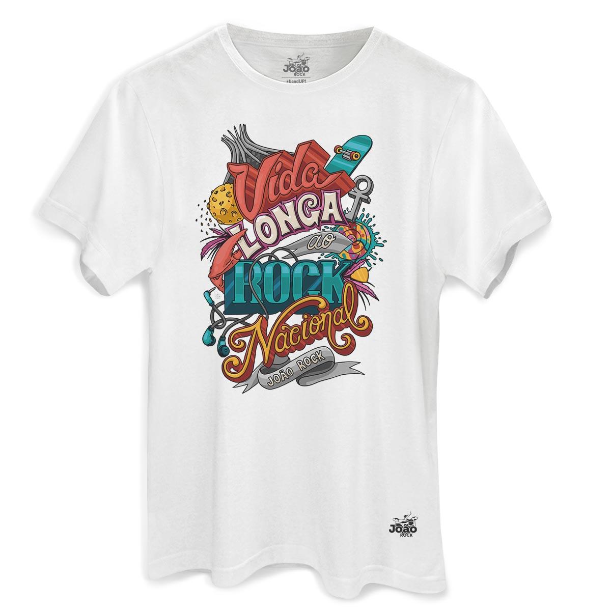 Camiseta Masculina João Rock Vida Longa ao Rock Nacional 2