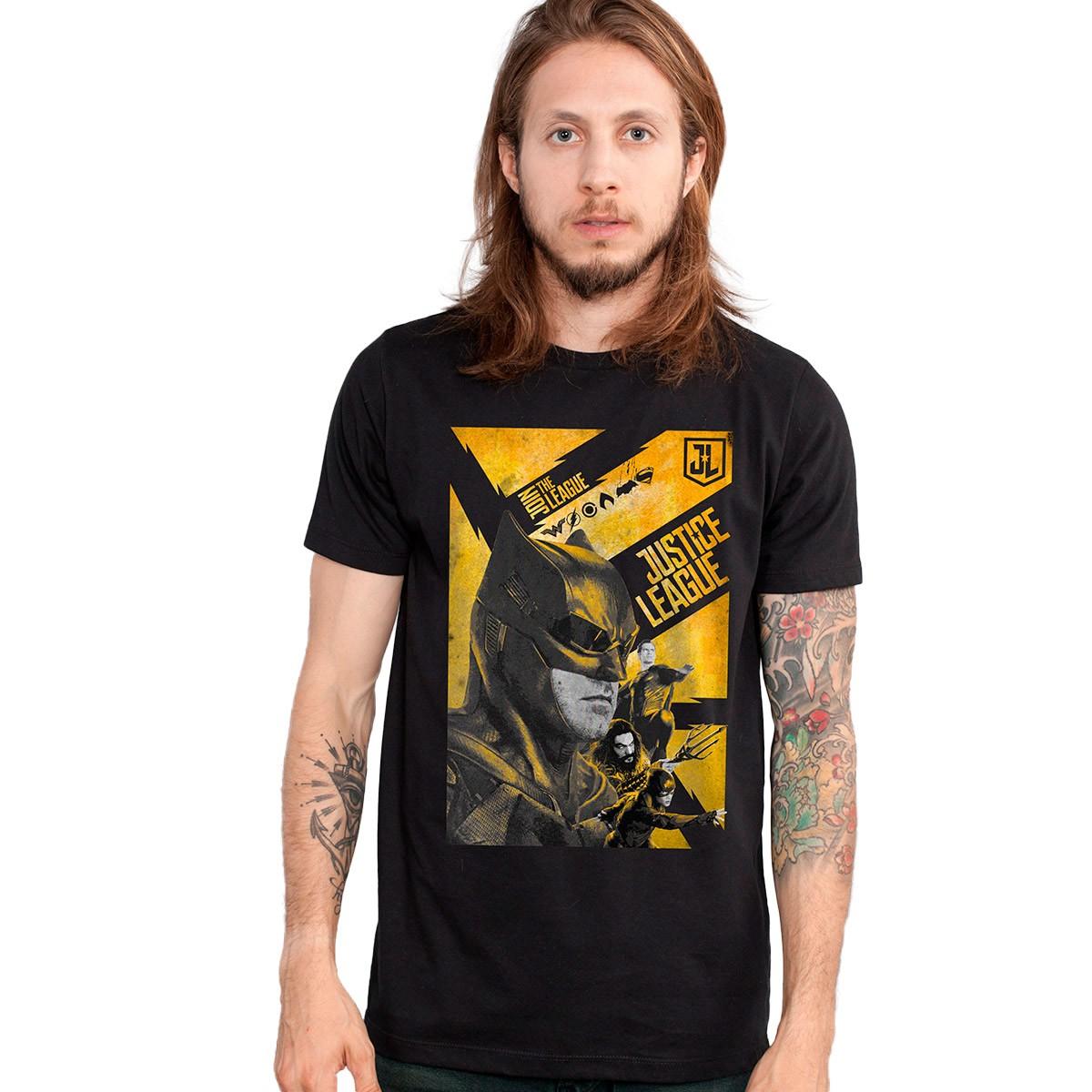 Camiseta Masculina Liga da Justiça Batman