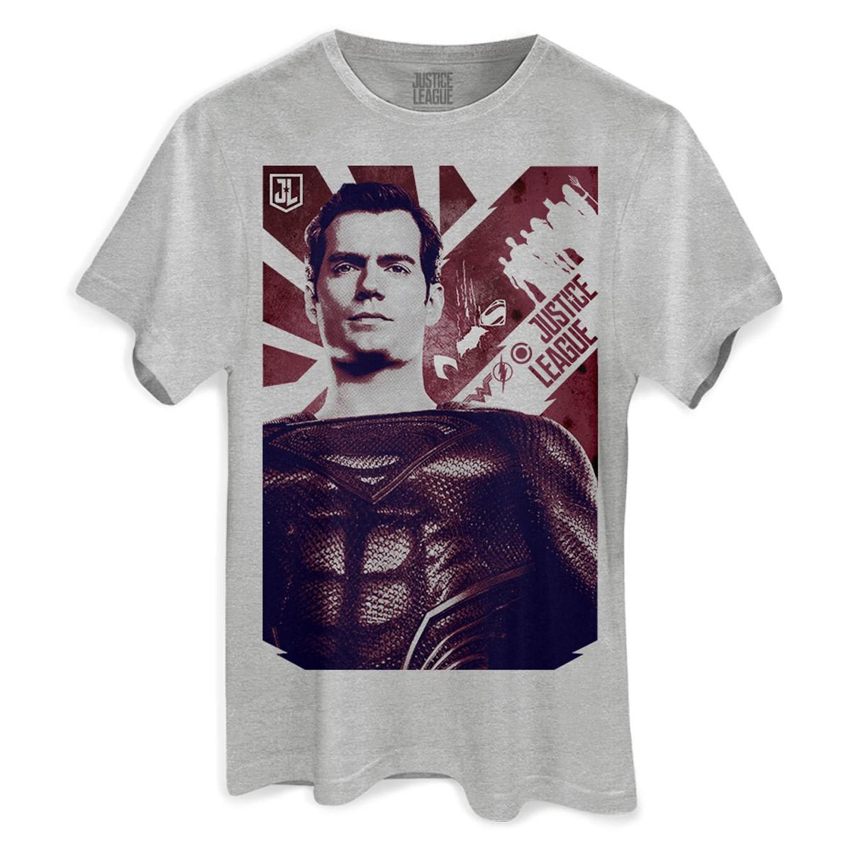 Camiseta Masculina Liga da Justiça Superman