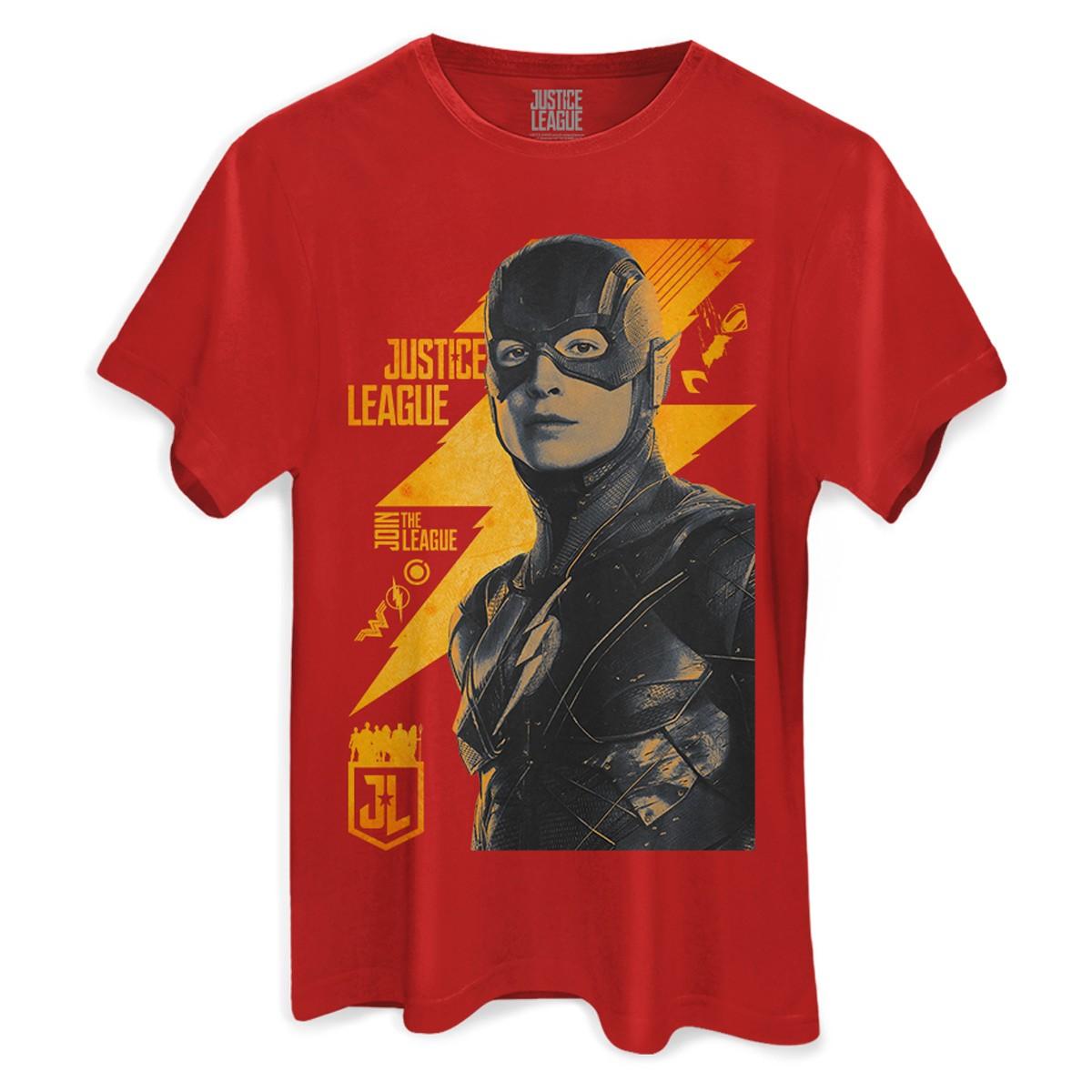 Camiseta Masculina Liga da Justiça The Flash