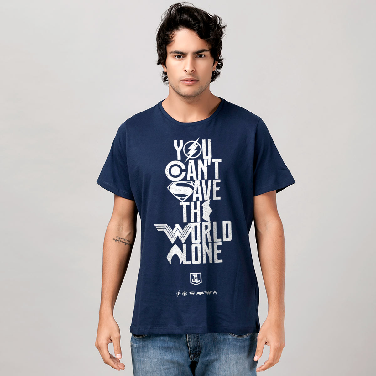 Camiseta Masculina Liga da Justiça You Can´t Save