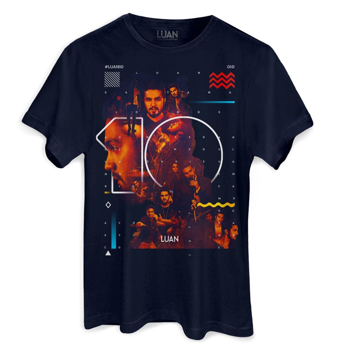Camiseta Masculina Luan Santana 10 anos
