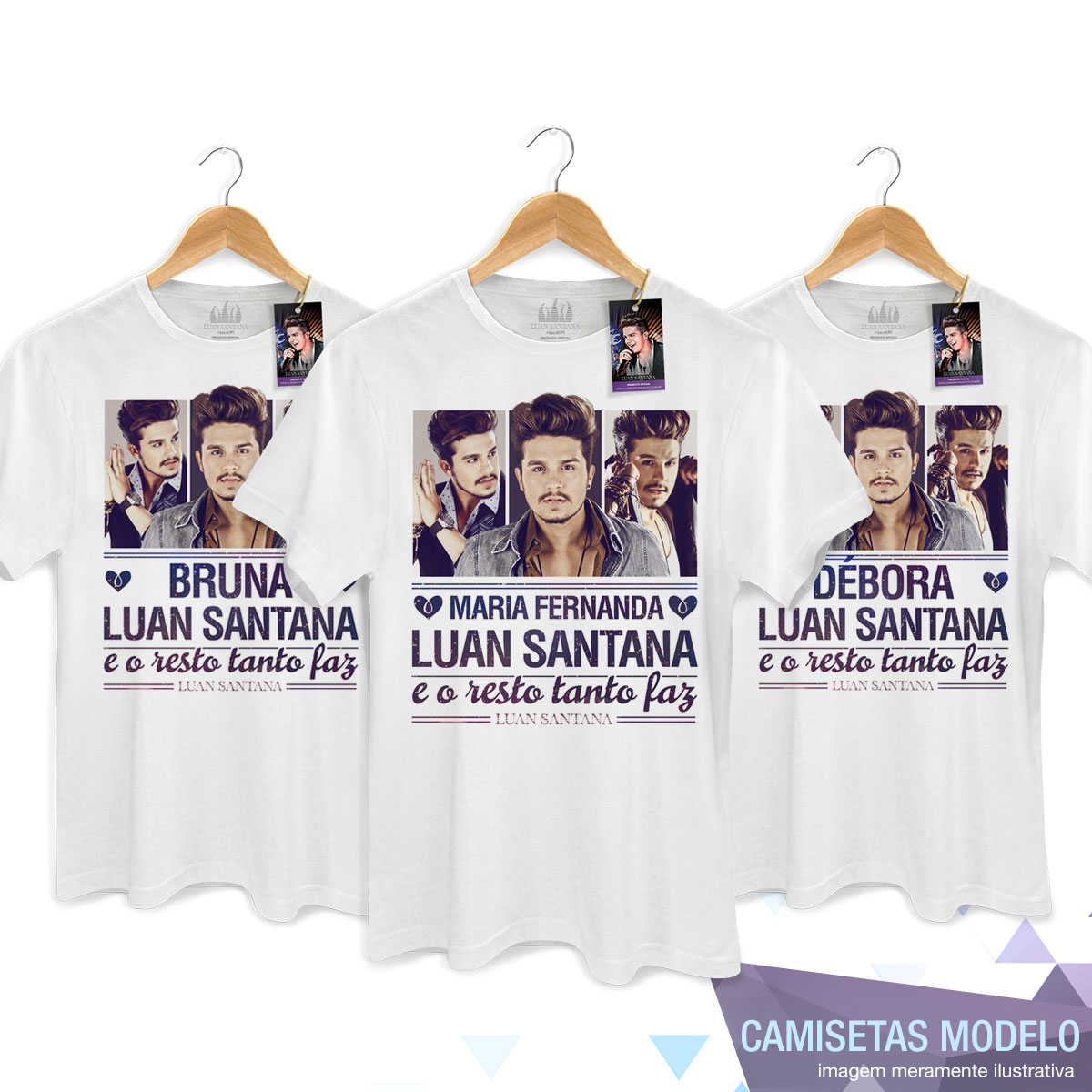 Camiseta Masculina Luan Santana Tanto Faz Foto