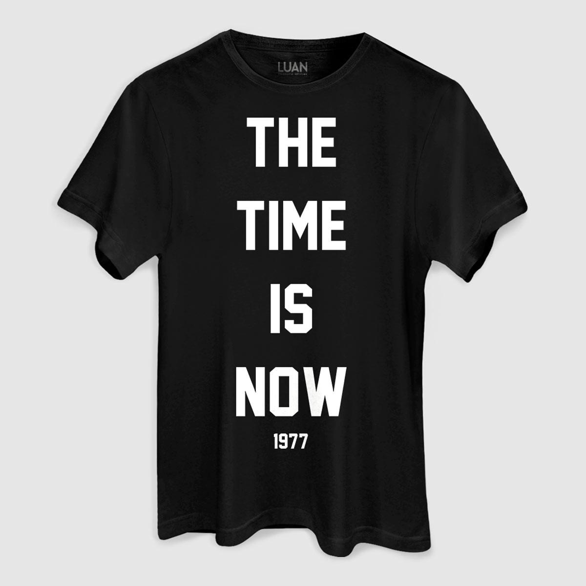 Camiseta Masculina Luan Santana The Time Is Now