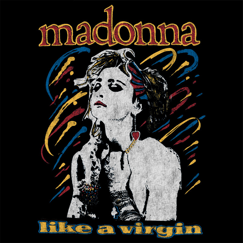 Camiseta Masculina Madonna Like a Virgin 3