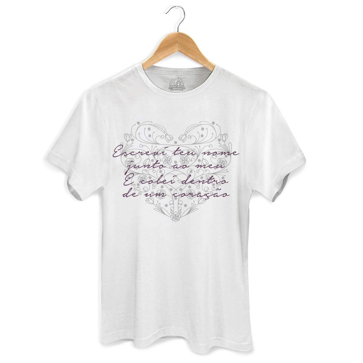 Camiseta Masculina Maria Cecília & Rodolfo Escrevi Teu Nome