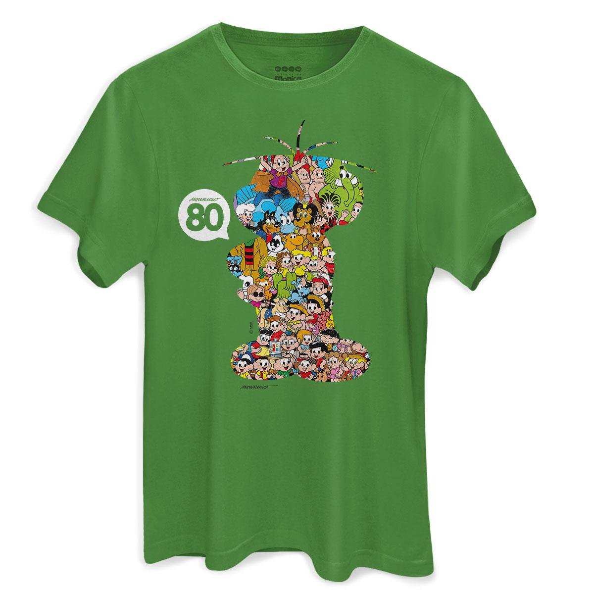 Camiseta Masculina Maurício de Sousa 80 Anos Cebolinha