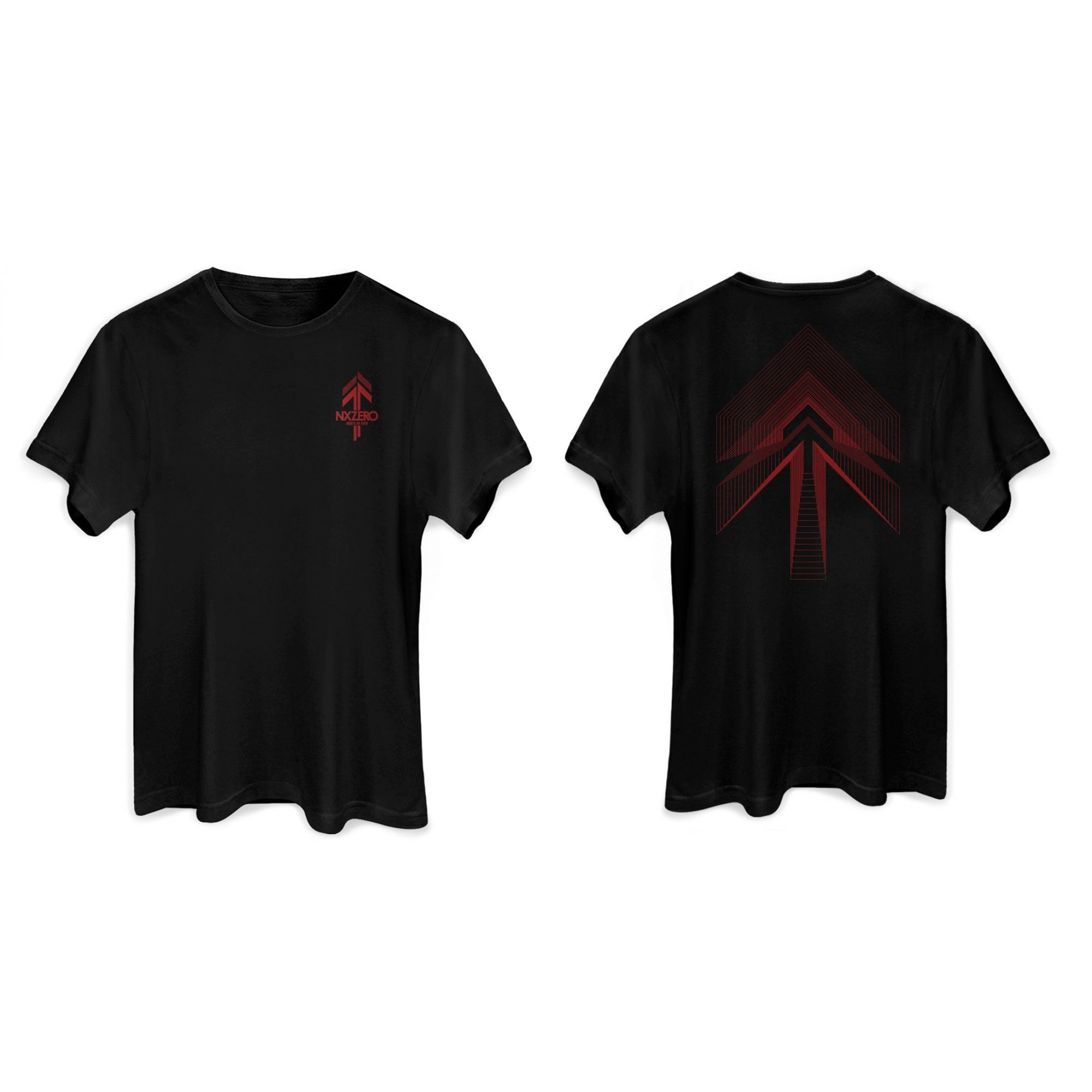 Camiseta Masculina NXZero Norte Ao Vivo Red