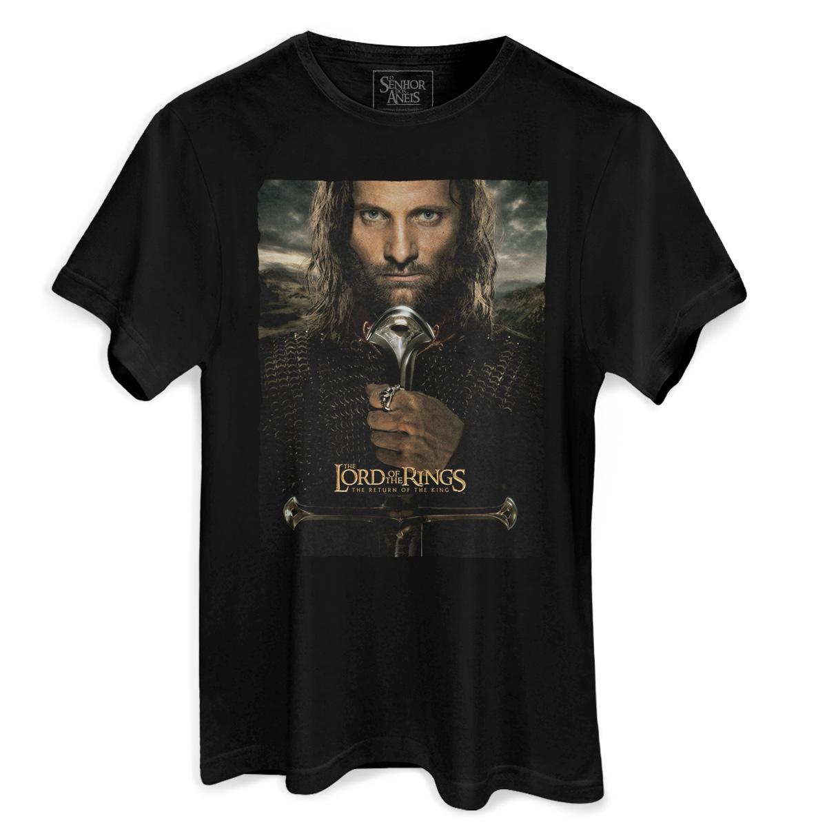 Camiseta Masculina O Senhor dos Anéis O Retorno do Rei