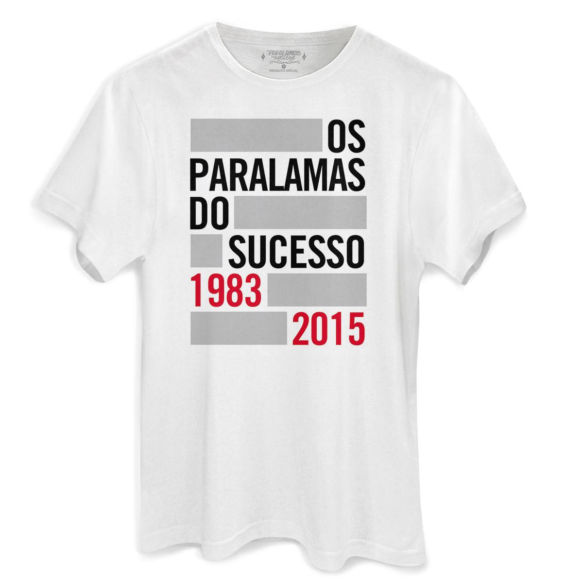 Camiseta Masculina Os Paralamas do Sucesso 1983-2015