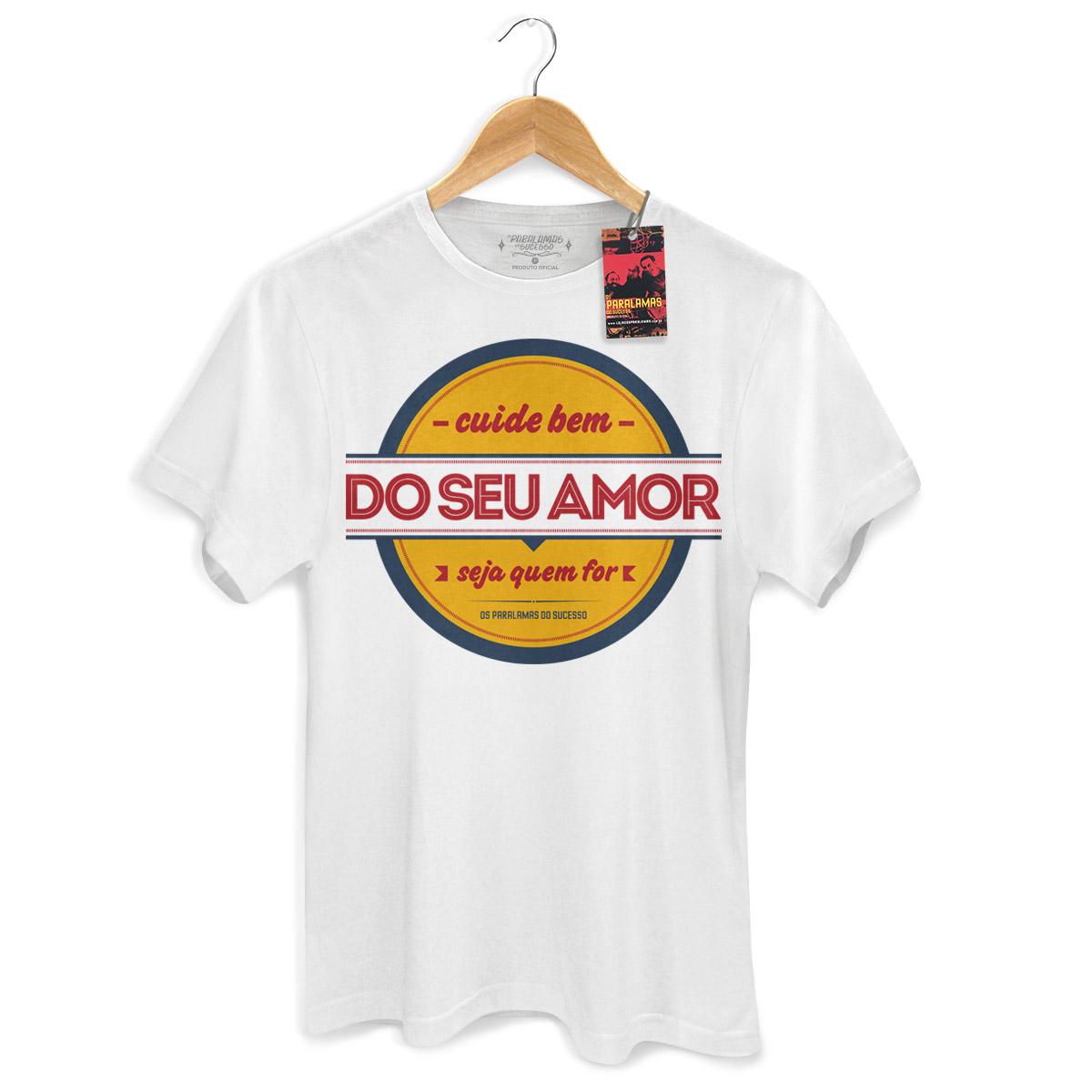 Camiseta Masculina Os Paralamas Do Sucesso Cuide Bem do Seu Amor