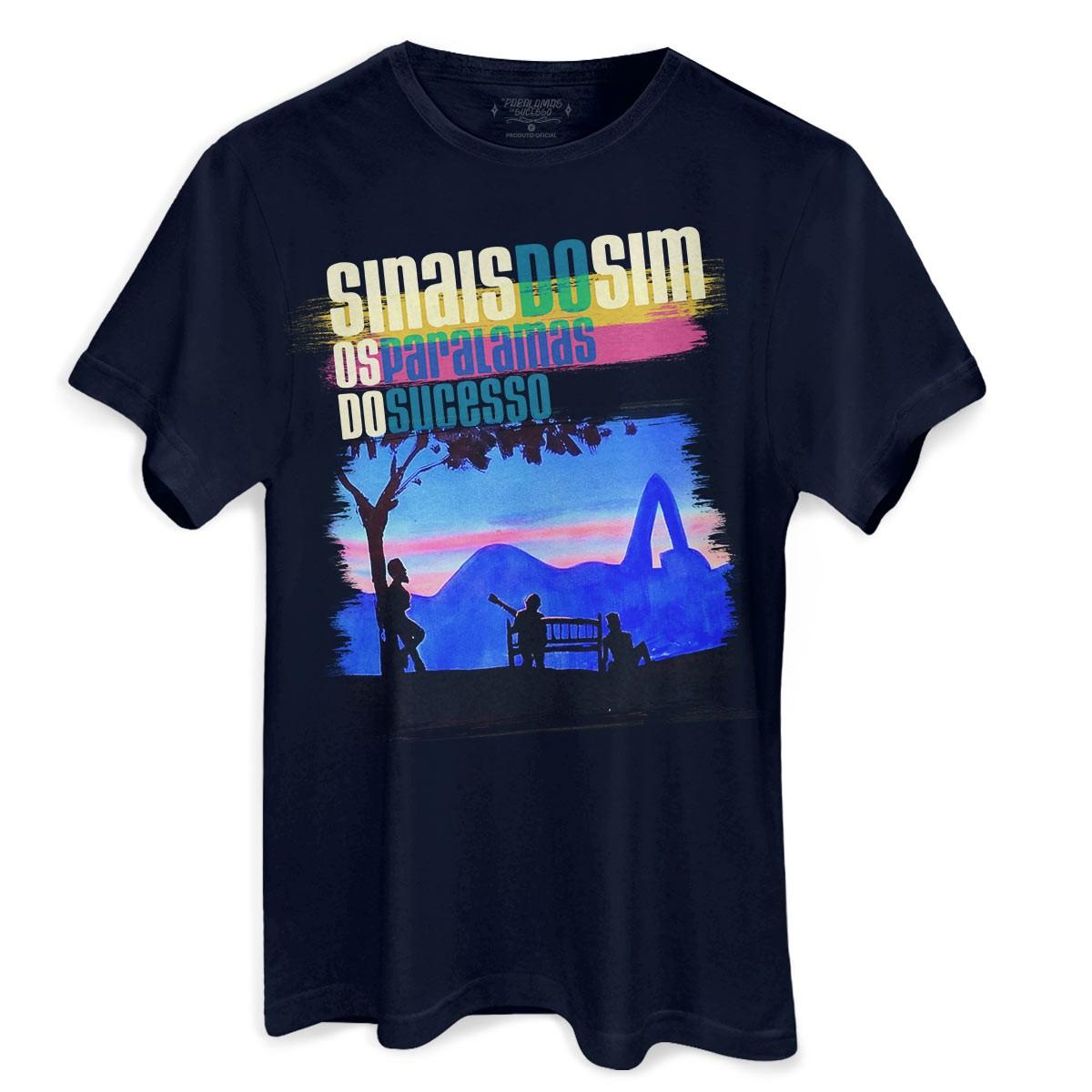 Camiseta Masculina Os Paralamas do Sucesso Sinais do Sim Foto Rio
