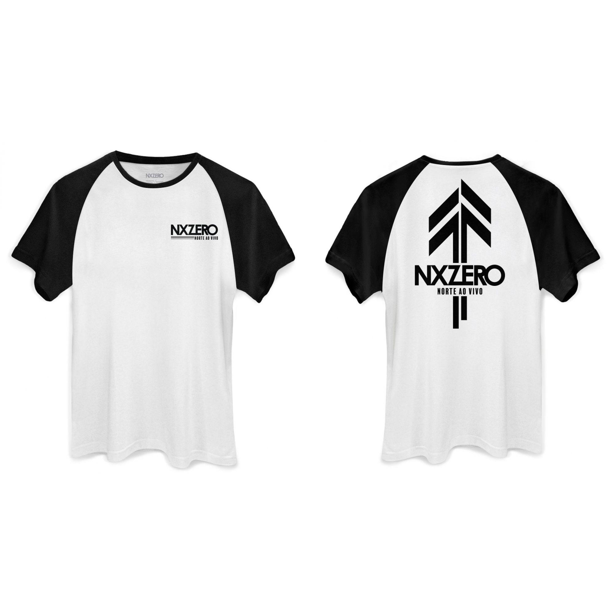 Camiseta Masculina Raglan NXZero Norte ao Vivo