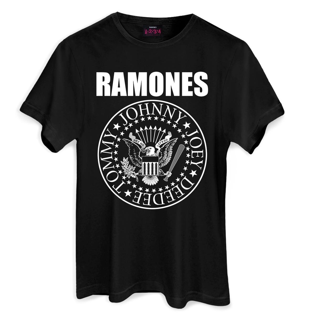 Camiseta Masculina Ramones Logo