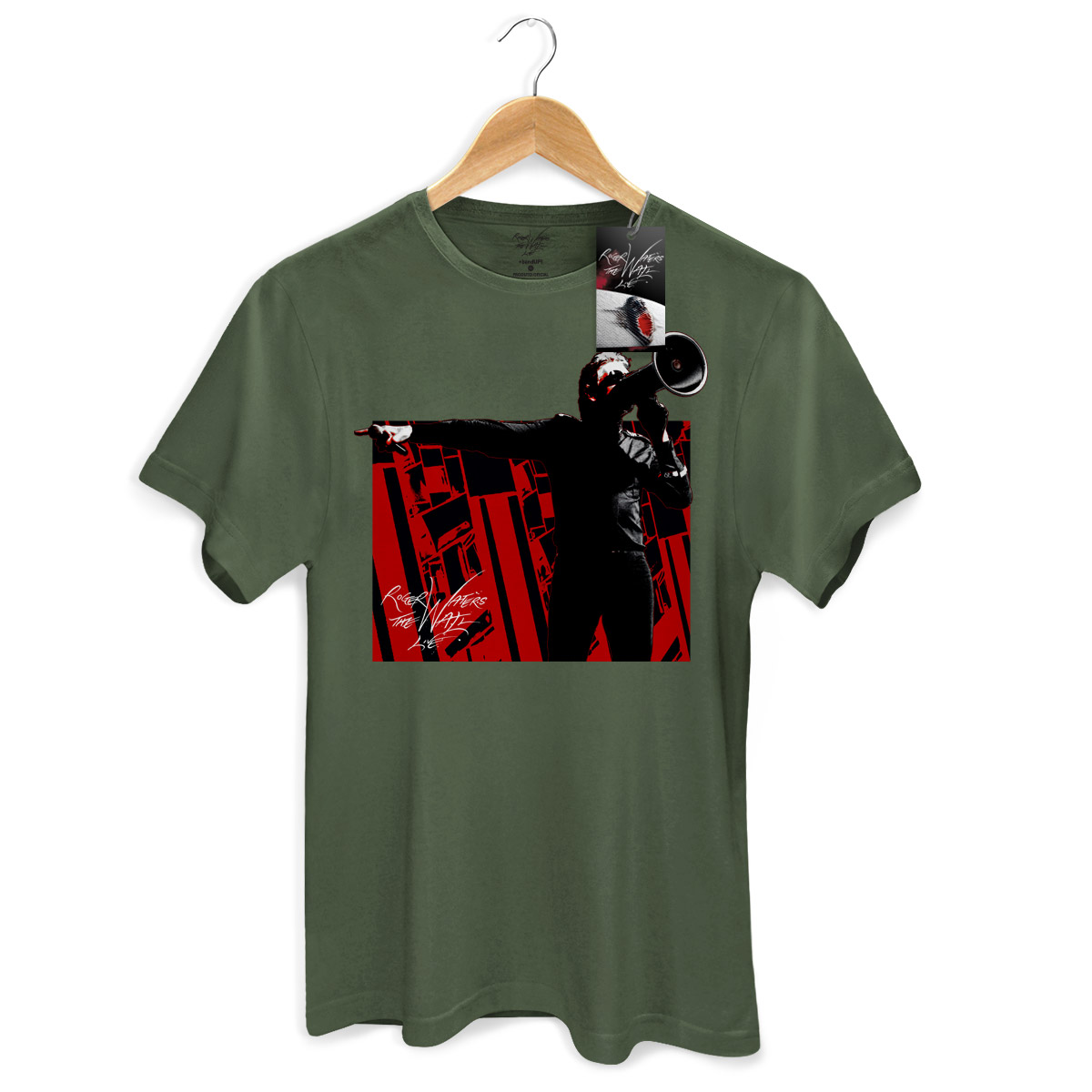 Camiseta Masculina Roger Waters Megaphone