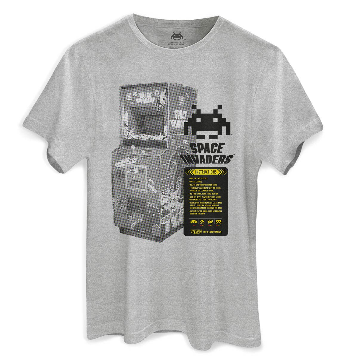 Camiseta Masculina Space Invaders Instructions