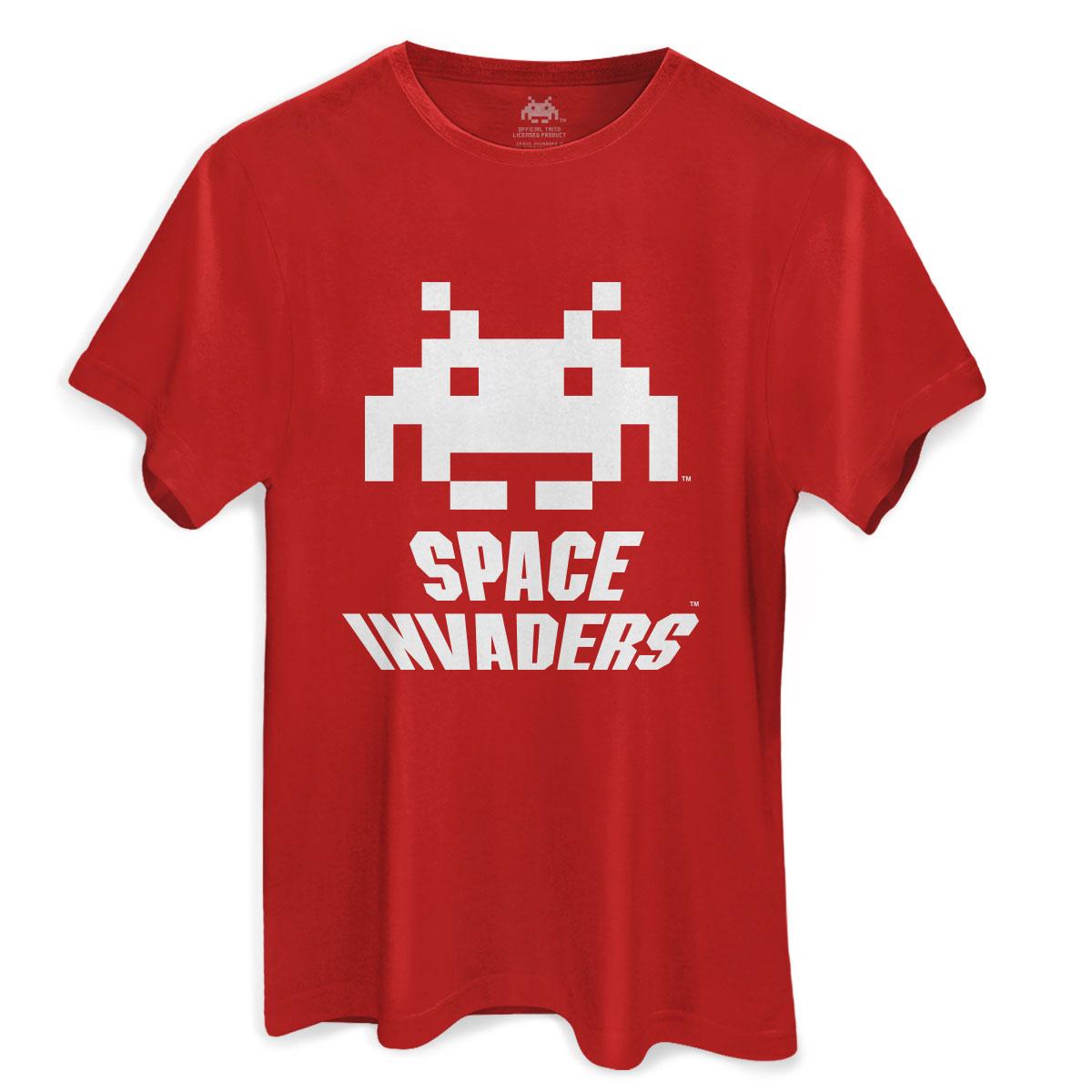 Camiseta Masculina Space Invaders Logo White
