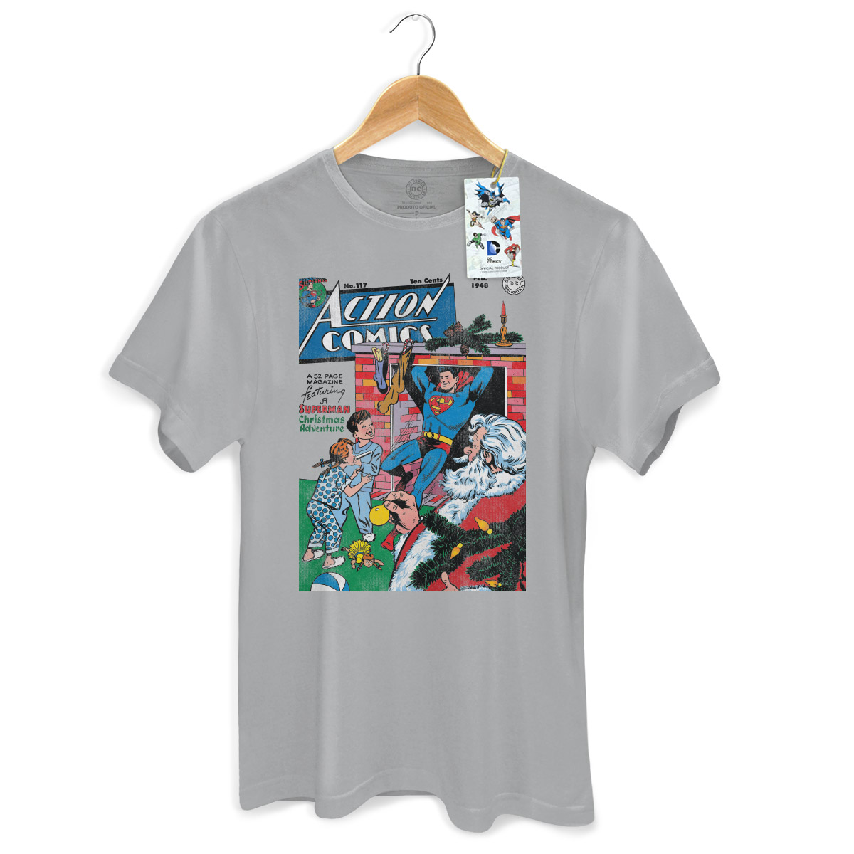 Camiseta Masculina Superman Christmas Adventure