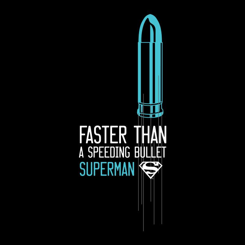 Camiseta Masculina Superman Mais Rápido Que Uma Bala