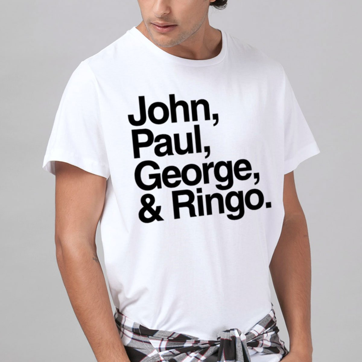 Camiseta Masculina The Beatles Names