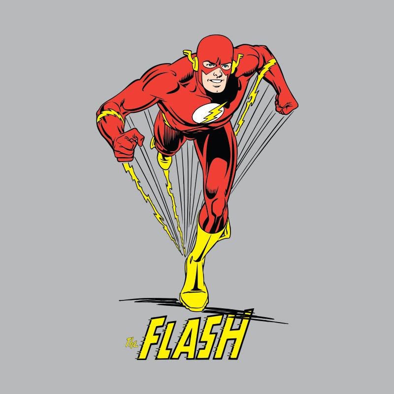 Camiseta Masculina The Flash Em Ação Modelo 2