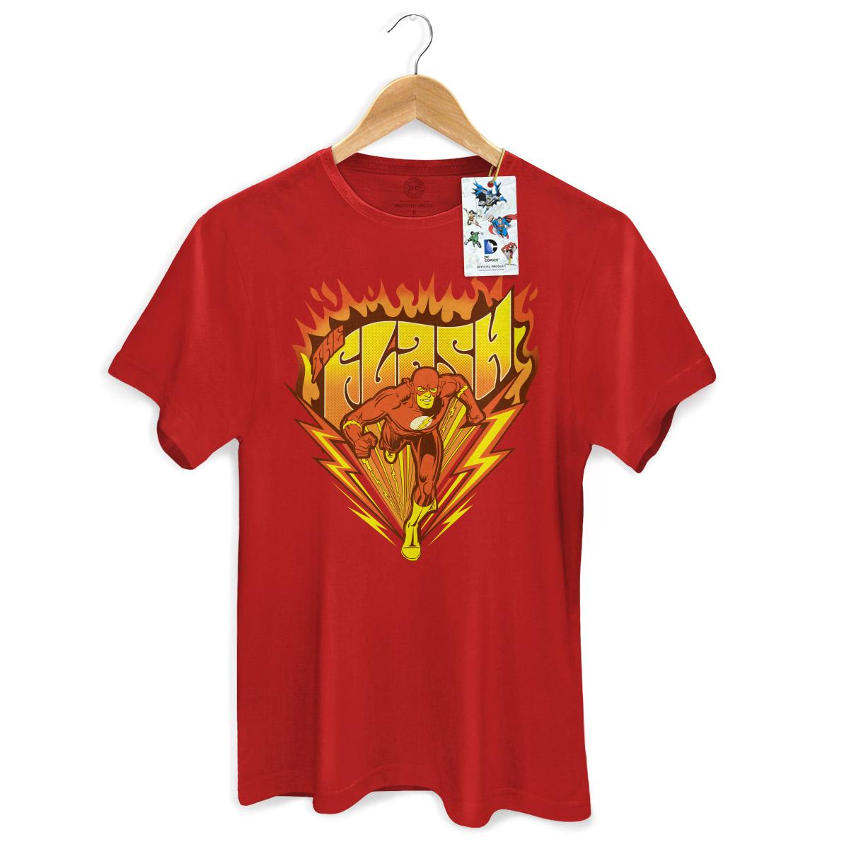 Camiseta Masculina The Flash Fire