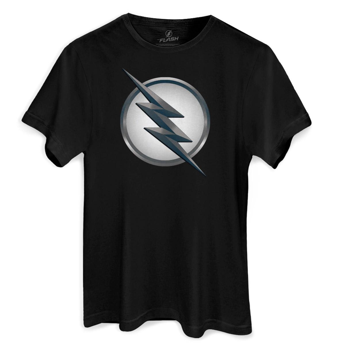 Camiseta Masculina The Flash Série Logo Zoom