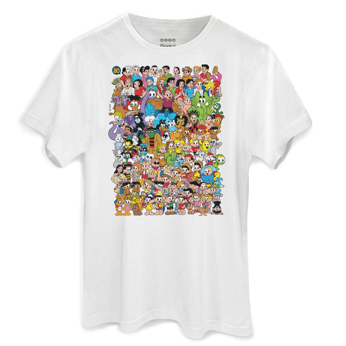 131d739615 Camiseta Masculina Turma da Mônica 80 Anos Colors