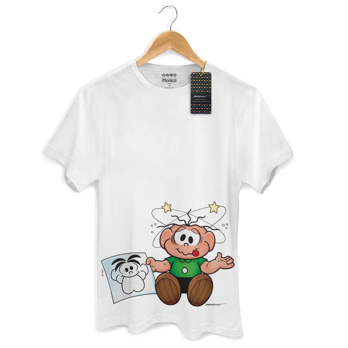 Camiseta Masculina Turma Da Mônica Kids O Cebolinha Apanhou!