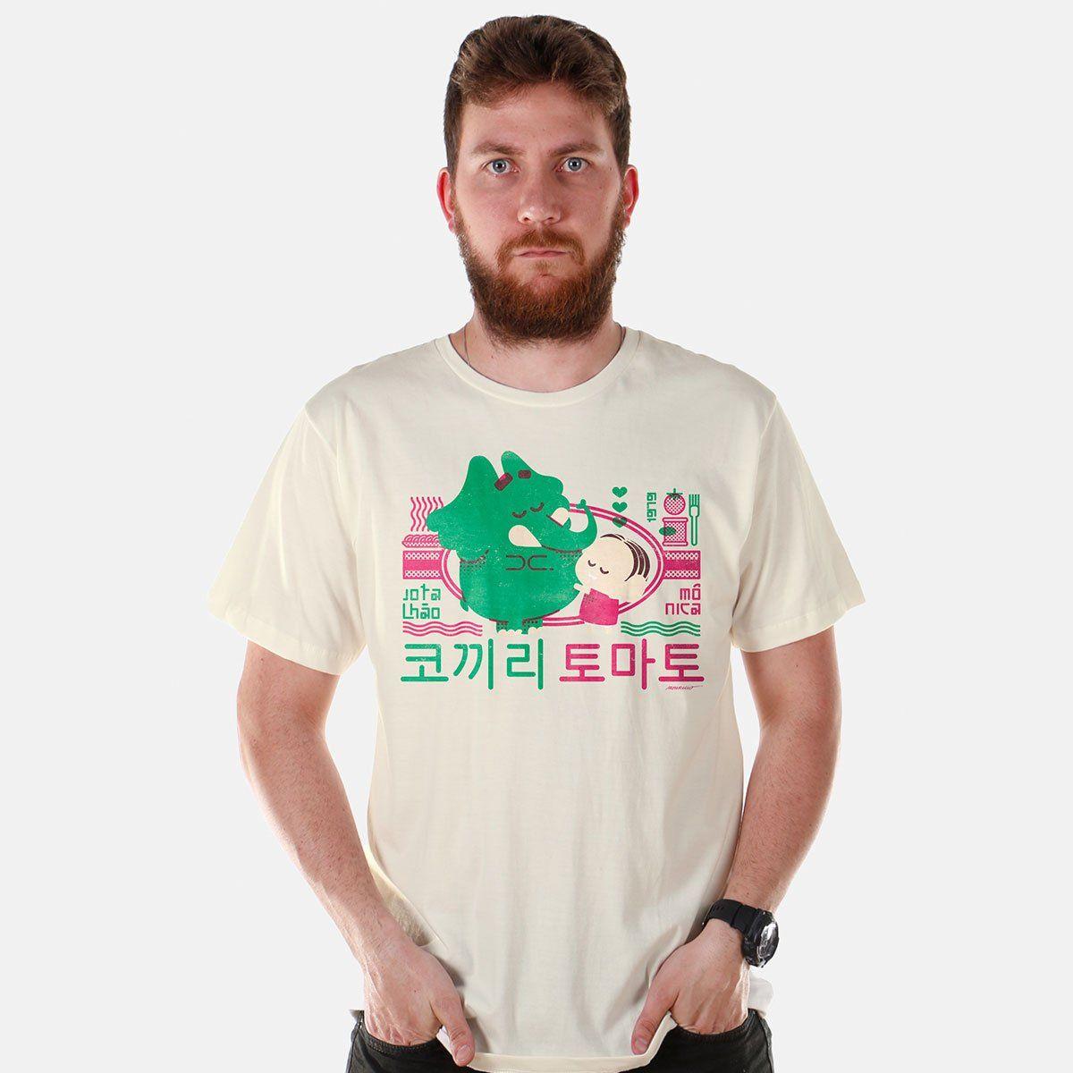 Camiseta Masculina Turma da Mônica - Mônica e Jotalhão