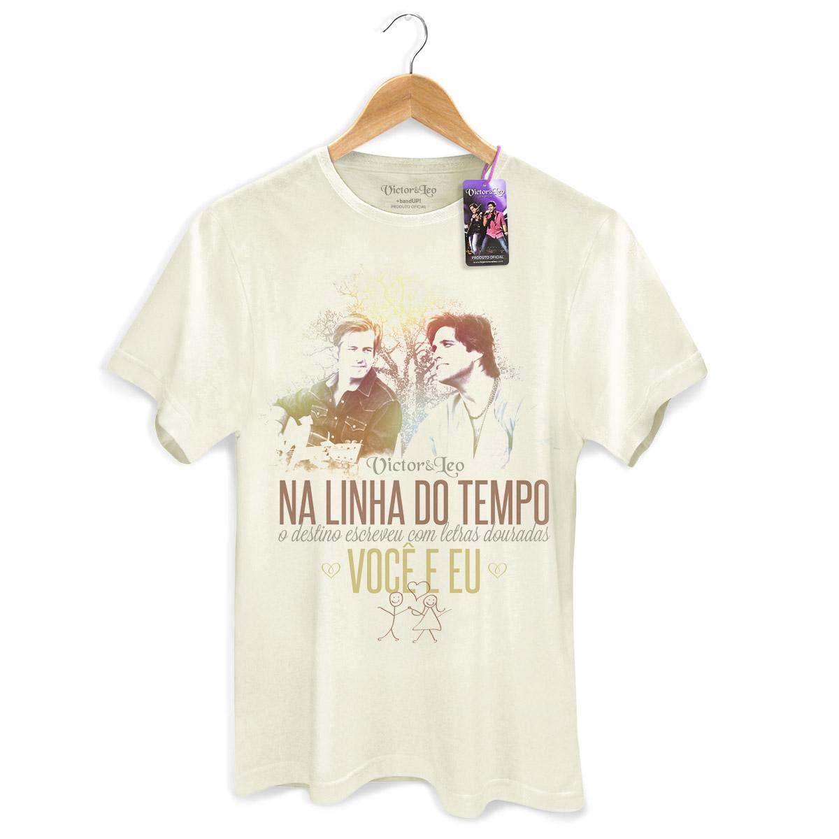Camiseta Masculina Victor & Leo - Na Linha do Tempo