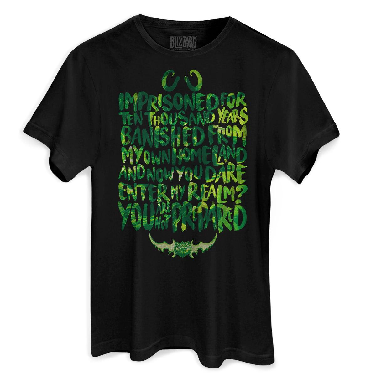 Camiseta Masculina World of Warcraft You Are Not Prepared