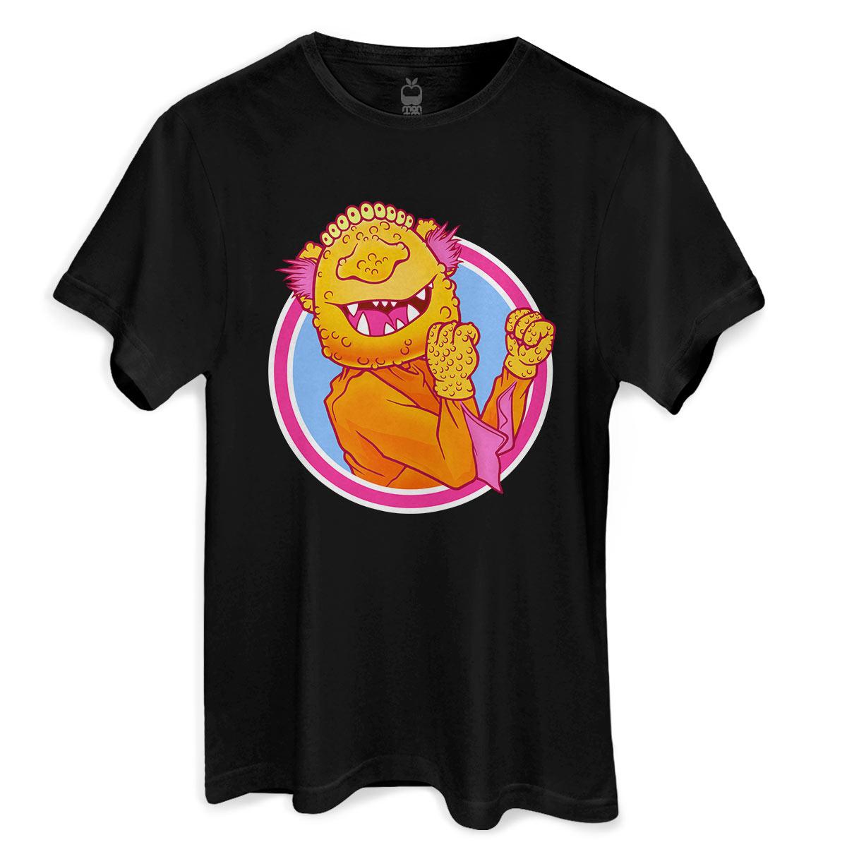 Camiseta Monstra Maçã Lango Lango Black