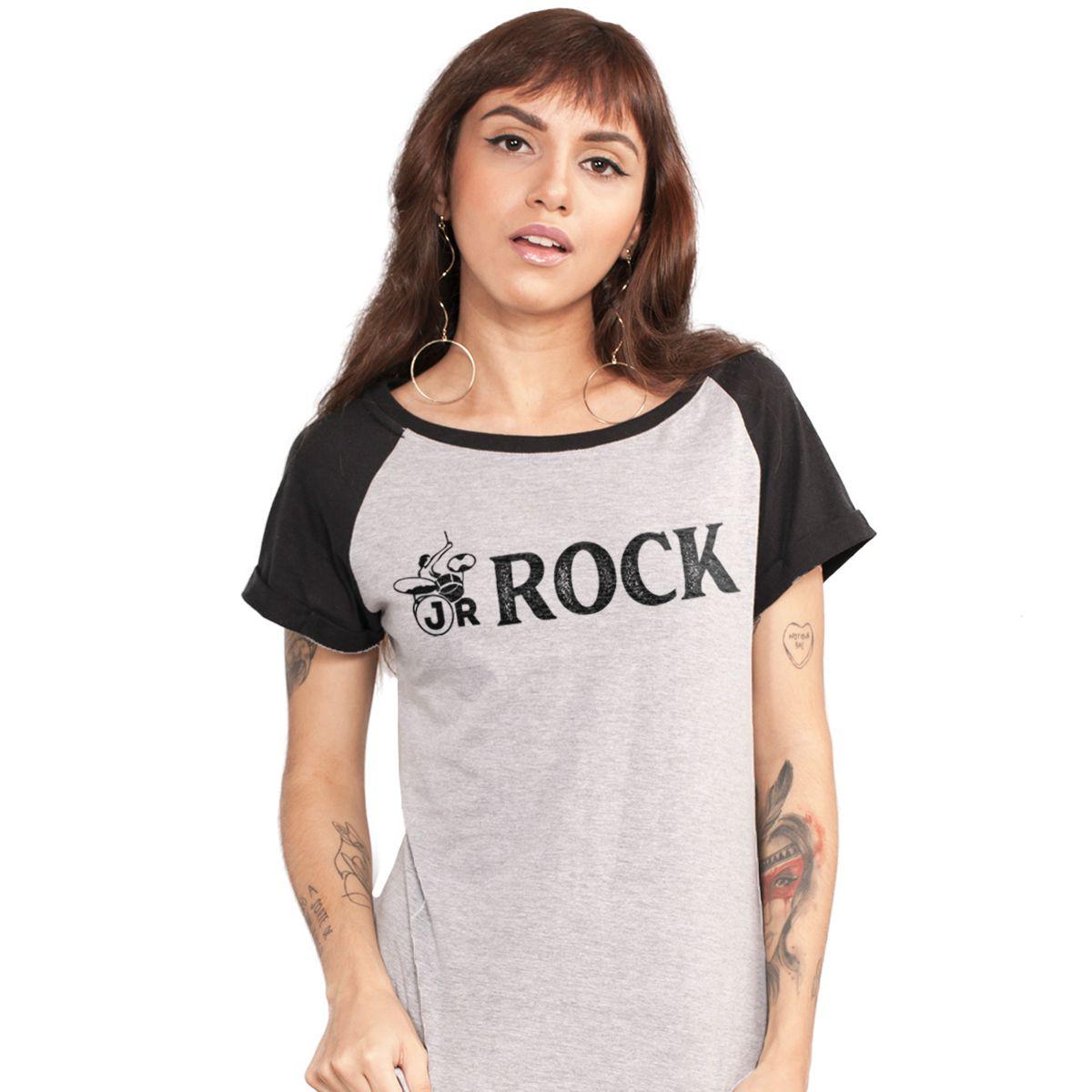 Camiseta Raglan Feminina João Rock Logo