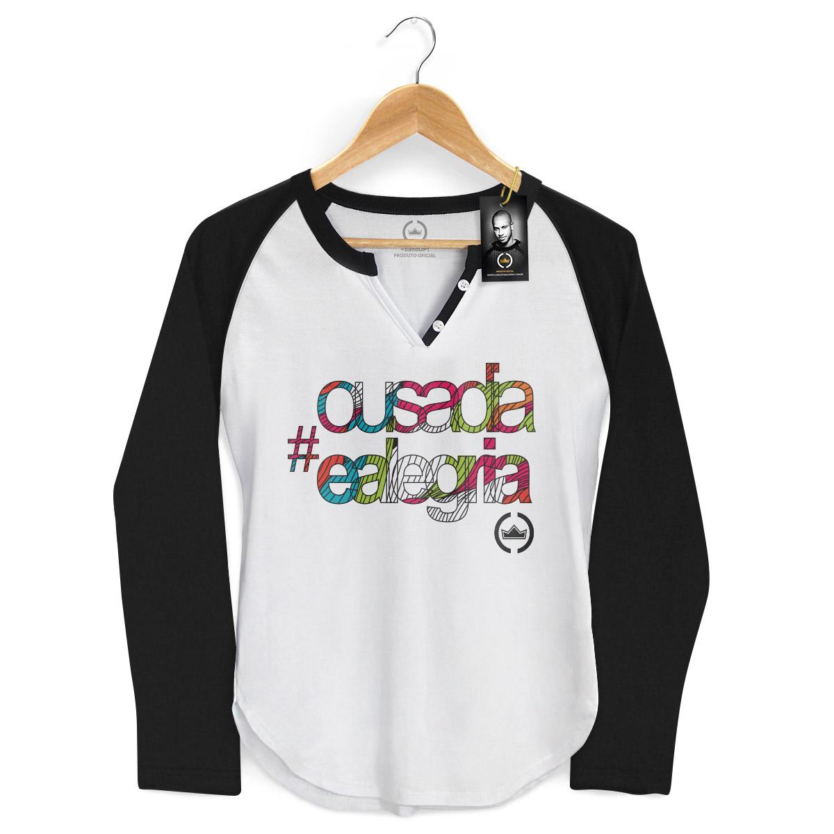 Camiseta Raglan Feminina Thiaguinho Ousadia e Alegria Colors