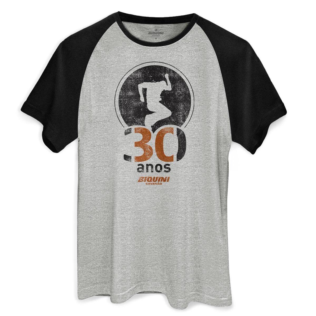 Camiseta Raglan Masculina Biquini Cavadão 30 Anos
