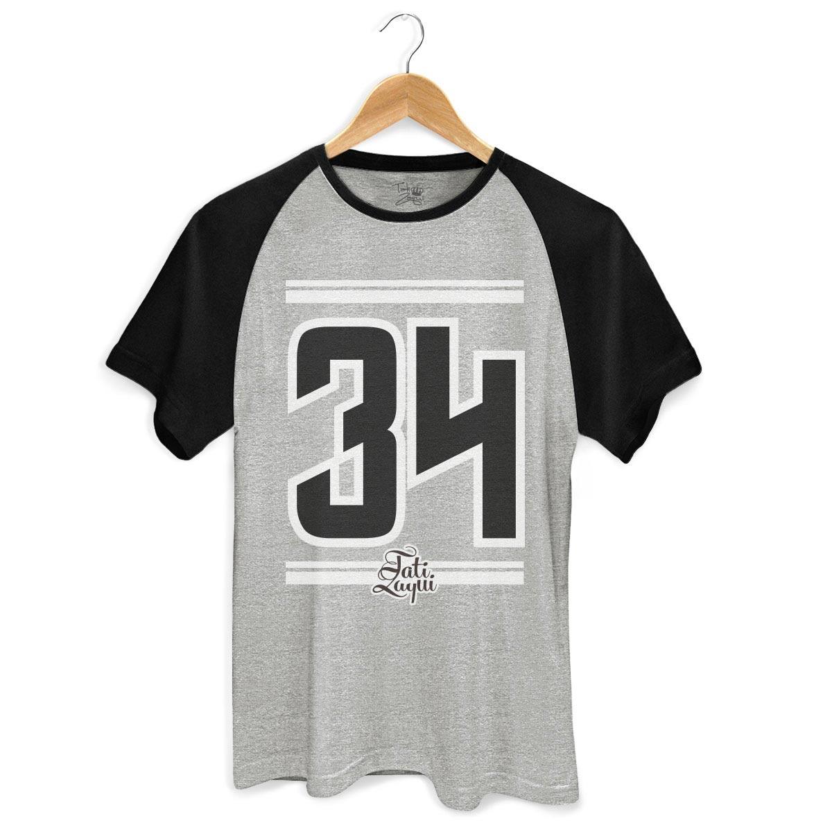 d01c58061 Camiseta Raglan Masculina MC Tati Zaqui 34