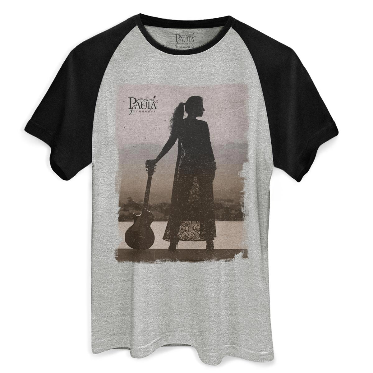 Camiseta Raglan Masculina Paula Fernandes Pronta pra Você