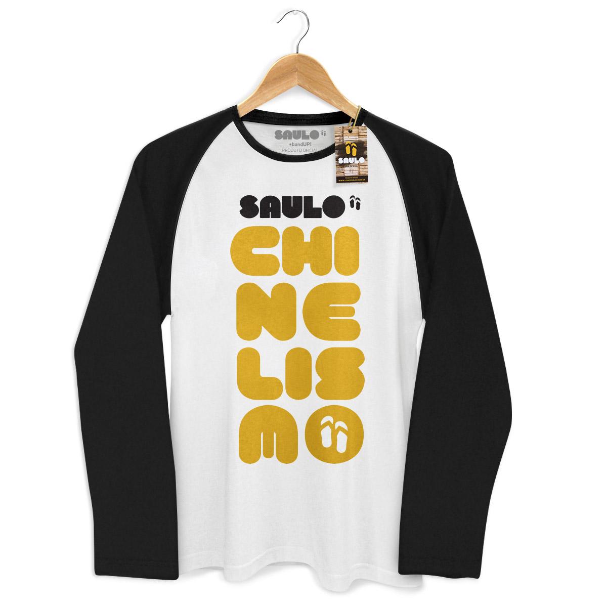 Camiseta Raglan Masculina Saulo Chinelismo